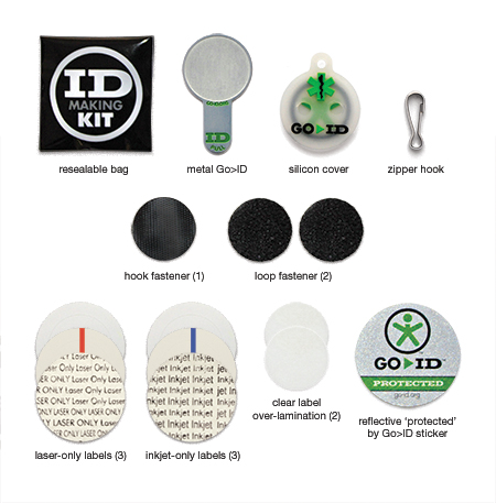 GOID Kit Contents (contents may vary)